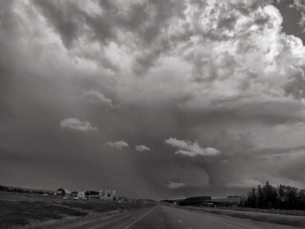 Thunderstorm over the upper Saint John River Valley