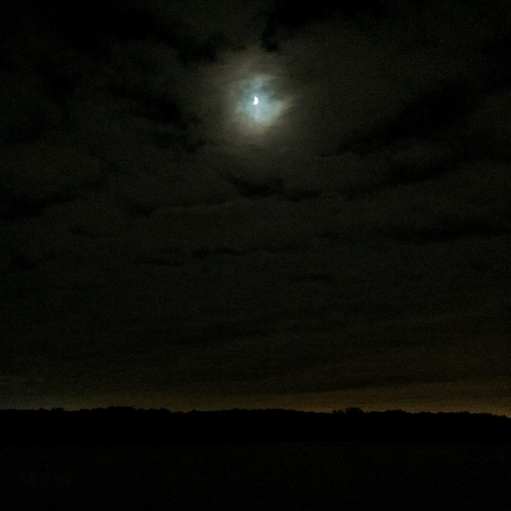 The clouds won the eclipse show …